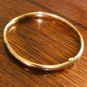 Vintage 10k Yellow Gold Polished Bangle Bracelet